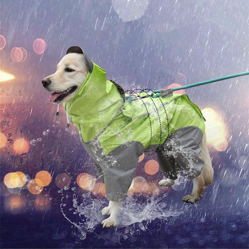 Pet Dog Raincoats Waterproof Dogs Rain Jackets Safety Rainwear Dog Jumpsuits Poncho Clothes Raincoat For Small Medium Large Dogs