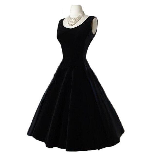 Simple elegant black cocktail dress