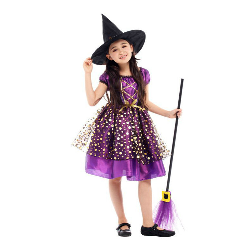Halloween Costume For Kids Witch Costume Girl Fancy Dress Hat Children Fantasia Infantil Carnival Party Child Cosplay Christmas Girls Costumes Aliexpress