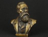 Разработка китайских Медь Коммунистическая Фридрих фон Энгельс статуя, бюст скульптура