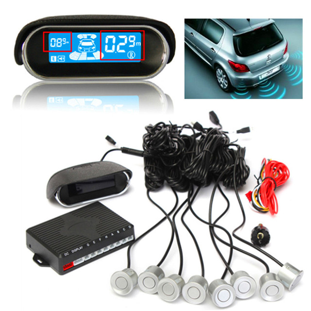 8 Sensors Buzzer Car Vehicle Parking Sensor Kit Reverse Backup Radar Sound Alert Indicator Probe System 12V With Display