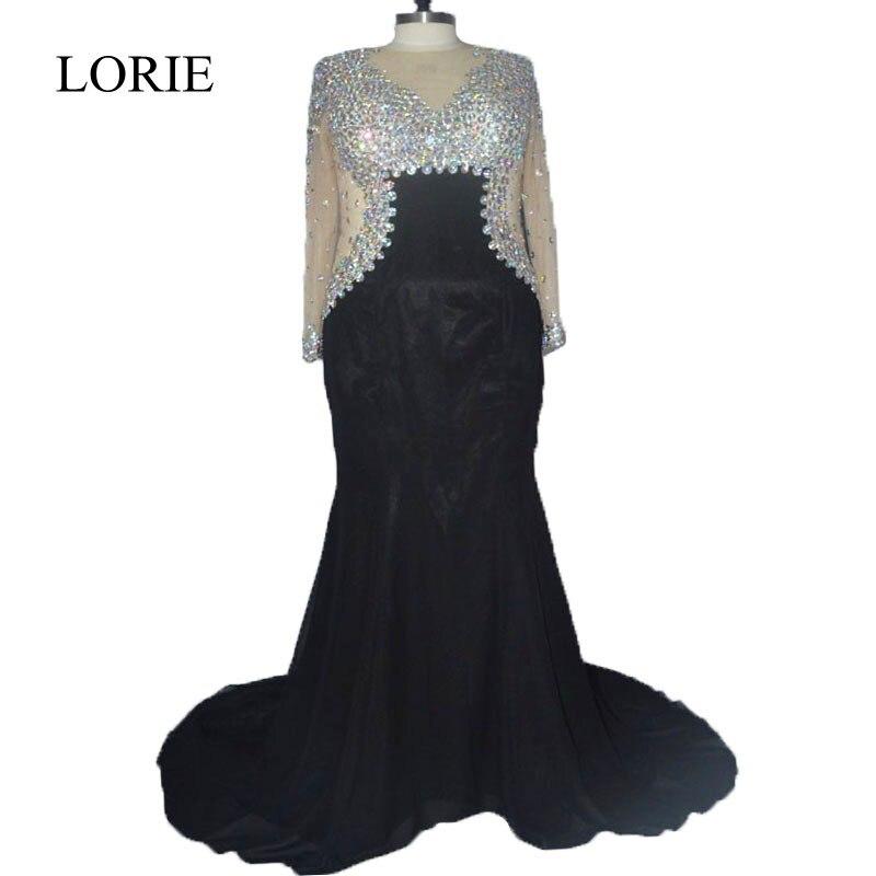 Plus Size Bling Bling Evening Dresses 2018 Abendkleider Rhinestone ...