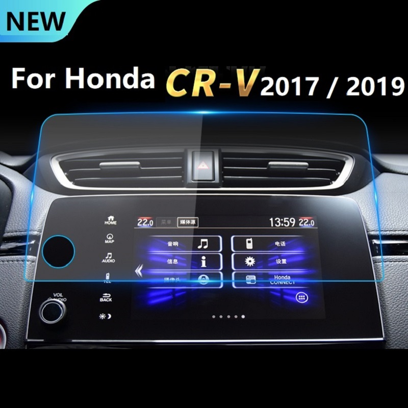 For Honda CR-V <font><b>CRV</b></font> 5th 2017 <font><b>2018</b></font> 2019 <font><b>Accessories</b></font> Control of LCD Screen Sticker Car GPS Navigation Screen Steel Protective Film image