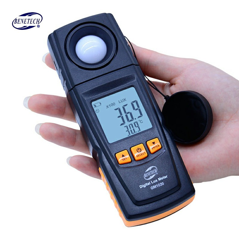 Hot Digital Lux Light Meter GM1020 USB LCD backlight Display Handheld Photometer Up to 200,000 Lux Meter gm1020 lcd display handheld digital lux light meter photometer up to 200 000 lux wholesale