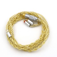 MMCX/0.78mm 2Pin Connector 3.5mm 2.5mm Balanced Upgraded Earphone Cable Extremely Soft 7N OCC Pure Silver +Gold Plated For IEMs