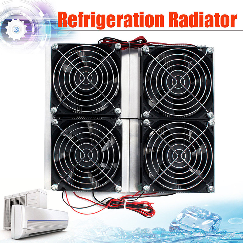12V 14A Semiconductor Refrigeration Radiator Thermoelectric 4 Cooling Fan Plate 30A 235 * 200 mm Cooling Accessories 5 pcs qdzh35g r134a 12v cooling compressor for marine refrigeration unit