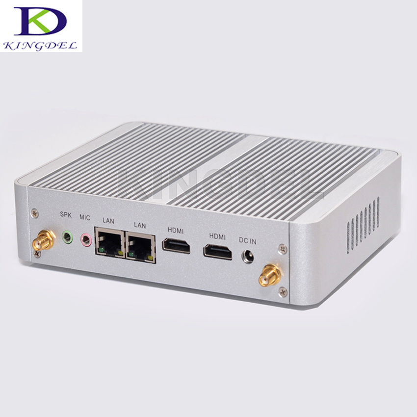 DHL Free Shipping Kingdel 5th Gen. CPU N3150 Fanless Mini PC,Desktop Computer,Dual NIC HDMI,VGA,Windows 10 Micro PC,TV Box,Wifi