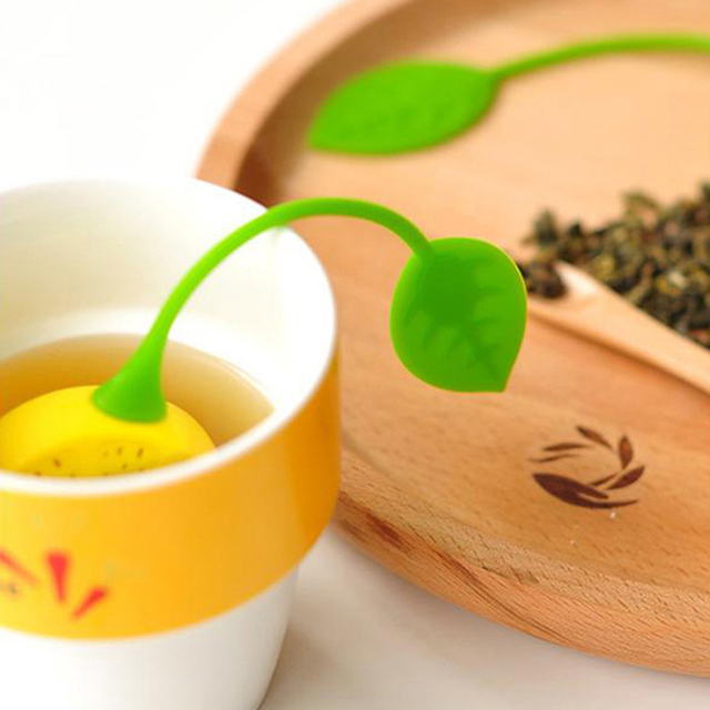 High Quality Lemon Shaped Silicone Perforated Tea strainer Filter Infuser Orange Green