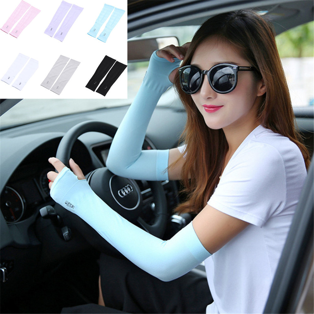 1Pair Bicycle Fishing Sleeve Cover Sun Protection Arm Guard Cooling Sleeve Cover Arm Warmers Cycling Women Men