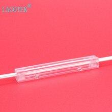 Unids/lote de tubos de protección para Tubo Termocontraíble de fibra óptica FTTH, caja protectora de empalme de fibra óptica, versión transparente, 100