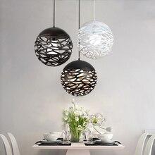 Lámpara colgante LED moderna de hierro para sala de estar, dormitorio, tienda, bar, accesorio de iluminación contemporáneo, decoración