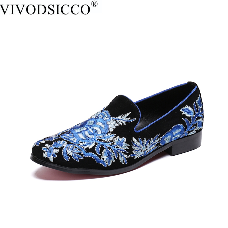 VIVODSICCO Handmade Men Velvet Shoes With a Variety Embroideries British style Men Smoking Slippers Party and Prom Men Loafers piergitar handmade men velvet shoes with a variety embroideries british style men smoking slippers party and prom men loafers