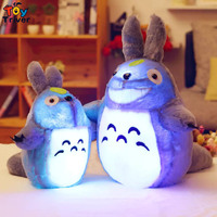 Glowing Luminous Led Light Up Toys Totoro Stuffed Plush Toy Doll Cushion Pillow Birthday Valentine Christmas Gift Triver Toy