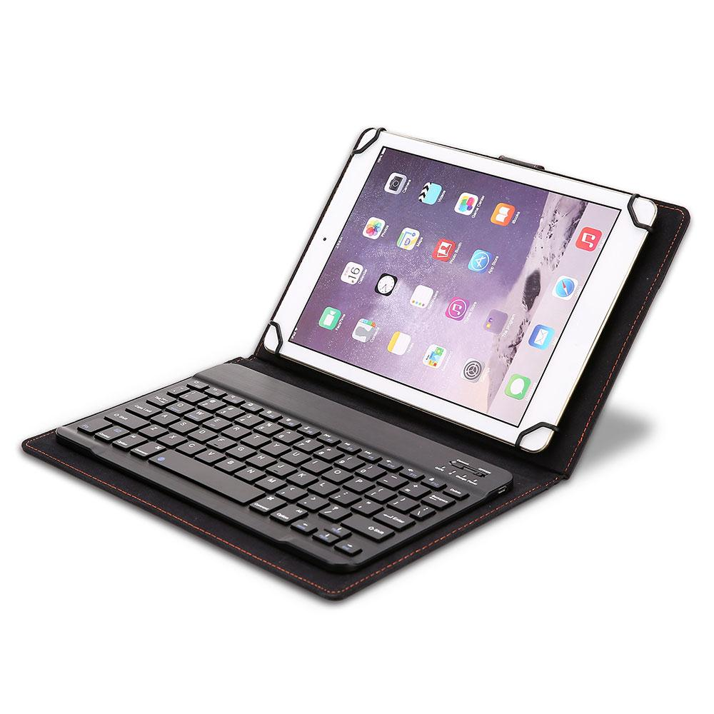Portable Universal Foldable Modern 9.7-10.1 inches Tablet Case with Bluetooth 3.0 Keyboard Wireless Bluetooth Keyboard