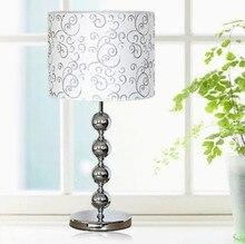 2015 новые Настольные Лампы простой и стильный освещение лампа/прикроватной лампы/Ткань спальня лампа/кнопка включения