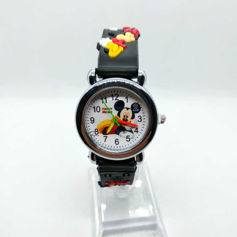 קריקטורה מיקי שעון לילדים ילדה ילד תלמיד שעון סיליקון קוורץ שעוני יד לילדים שעונים מתנה לחג המולד Reloj infantil