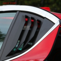 2pcs for for Mazda 3 Axela 2014 2017 Rear triangle window Decorative strip False outlet Red/ Glossy/ carbon fibre pattern