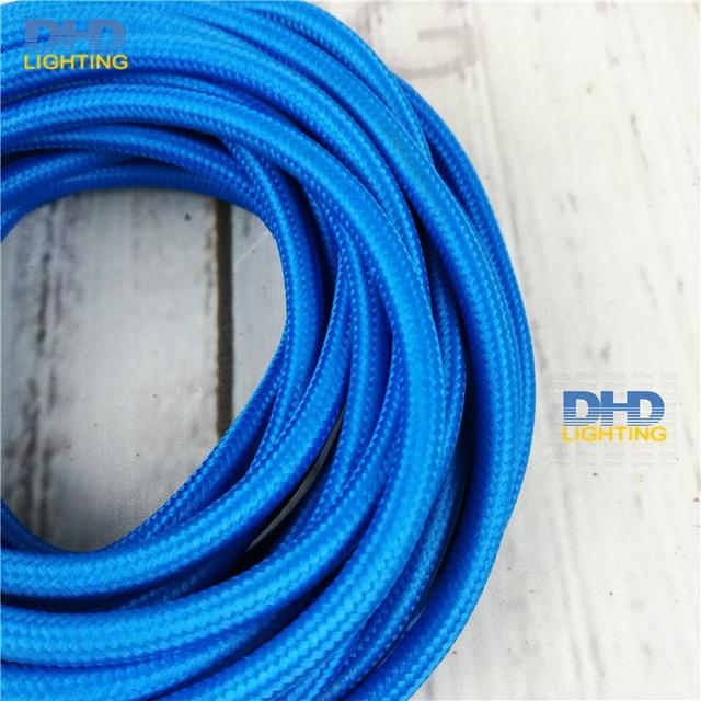 12 mt/los sky blue farbe textilkabel stoff draht vintage netzkabel ...