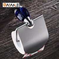 Stainless steel Cover Toilet Paper Holder Brushed Nickel Roll Paper Hanger with Cover Modern Bathroom Product Wall Mount