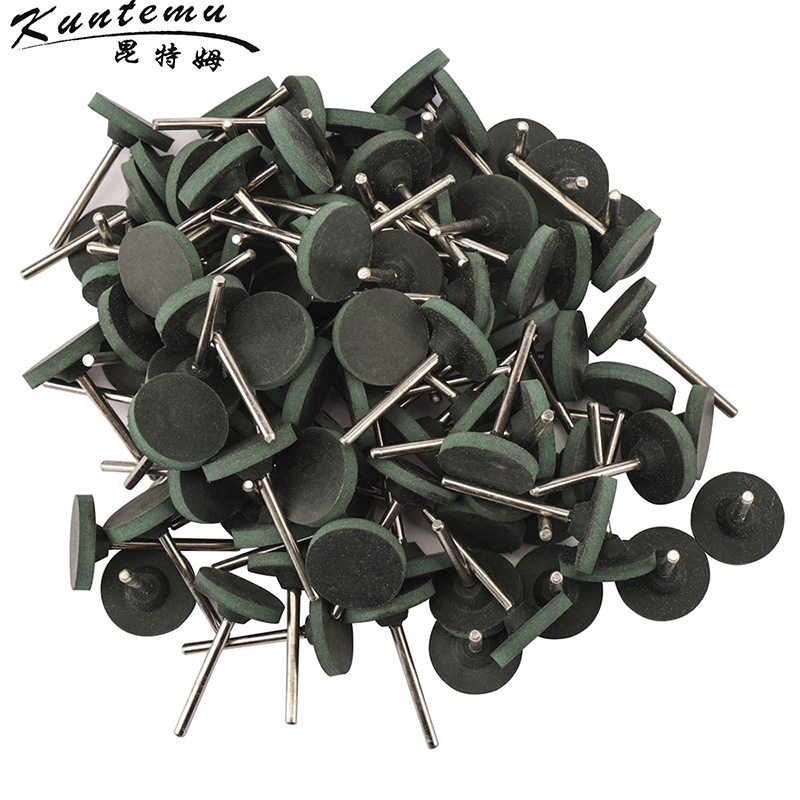 10PCS T-Shape Rubber Mounted Points Grinding Head For Jade Metal Wood Grinding