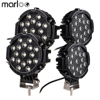 Marloo 4pcs 51w 7 Spot LED Light Work Light Off Road Driving Fog Lights For Jeep