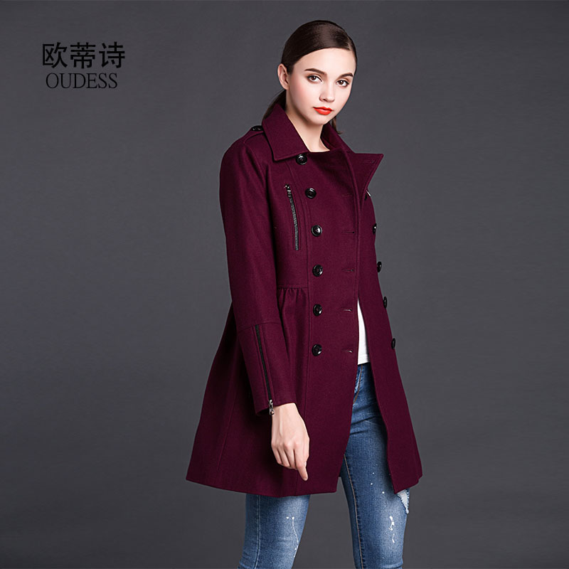 Popular Purple Pea Coats-Buy Cheap Purple Pea Coats lots from