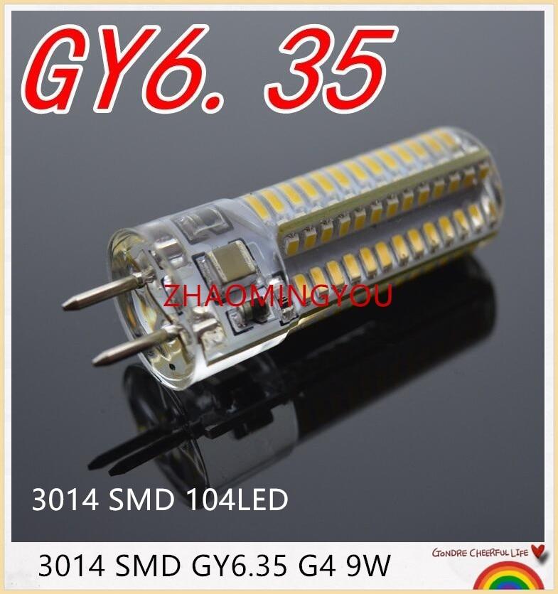 Pode ser escurecido gy6.35 3014smd lâmpadas led 110v 220v 12v 7w 9 12 15 milho lâmpada droplight lustre
