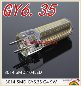 GY6.35 LED Lamps 110V 220V 12V 9W 12W Corn Light Bulb Droplight Chandelier 3014SMD G6.35 Led Bombillas White/Warm white Lamp(China)