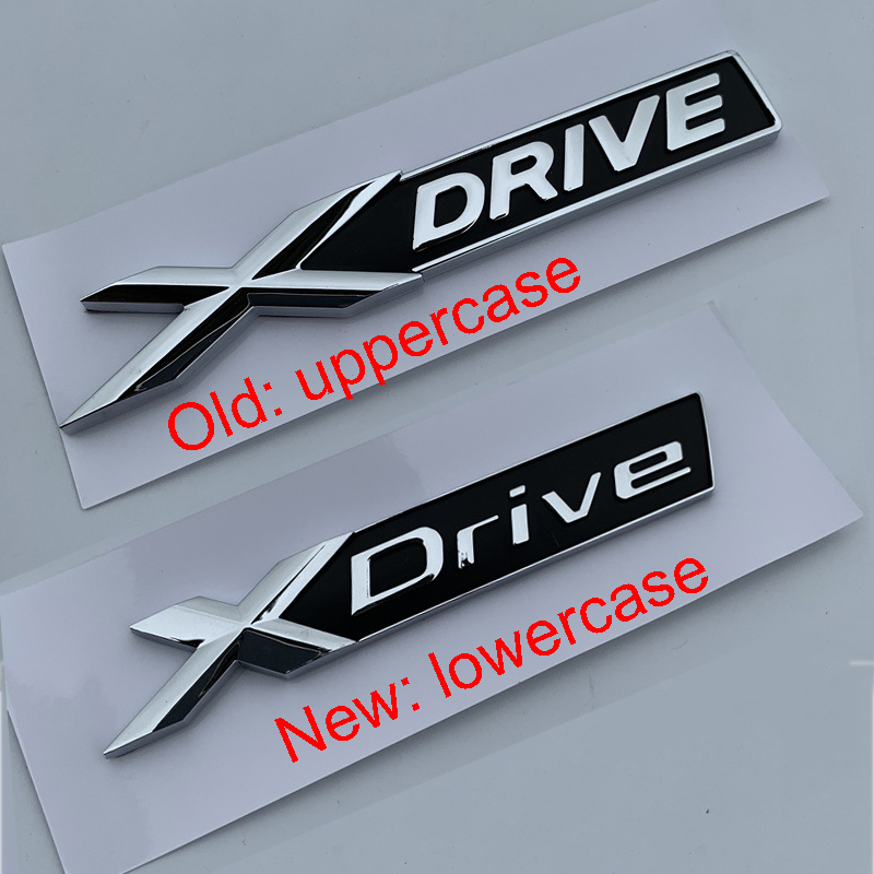 New Old X <font><b>DRIVE</b></font> Chrome and Black Bar <font><b>Emblem</b></font> Sticker for <font><b>BMW</b></font> New 3 5 7 Series Car Styling Fender Trunk All Wheel <font><b>Drive</b></font> Logo image