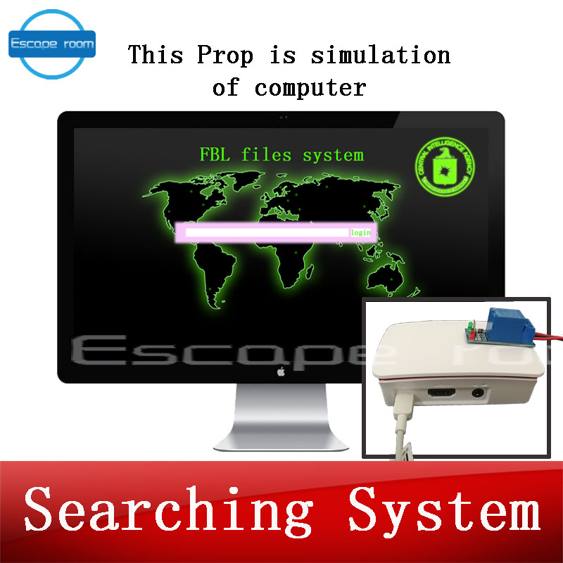 Security & Protection Escape Room Game Magnetic Metal Sensor Triggered Projector Prop Metalic Objector Close To Get Picture Or Number Password Clue