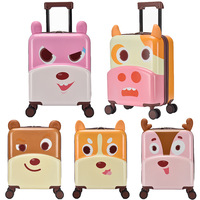 New 18 Inch3D Cartoon Cute Animal Kids Abs +PC Rolling Luggage Spinner Children Boarding Suitcases Trolley Travel Bag Student