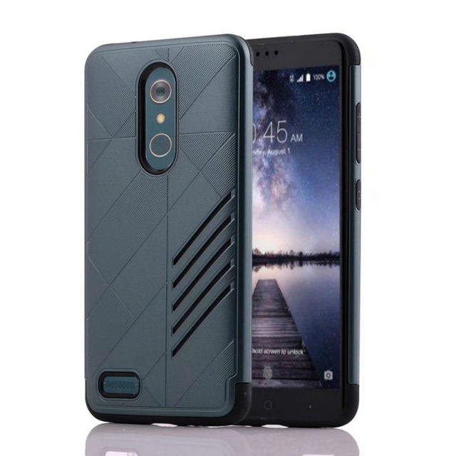 For ZTE Z981 / ZMAX Pro Armor Case 2 in 1 Back Heavy Anti-knock Shell Cover Rugged Hybrid Hollow Phone Case For ZTE Z981