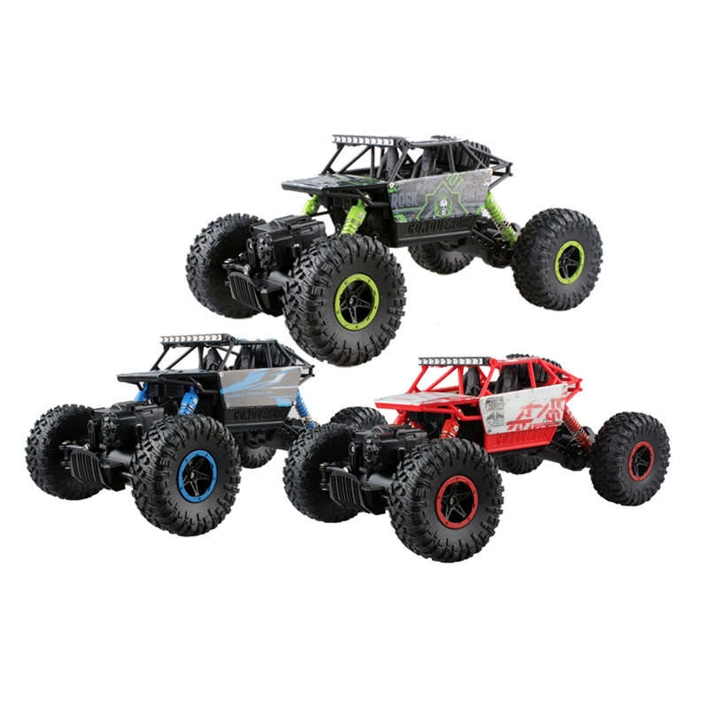 4x4 Double Motors Bigfoot Car Remote Control Model Off-Road Vehicle Toy For Kids RC Car 4WD 2.4GHZ Rock Crawlers Rally Climb Car