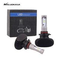MALUOKASA 2PCs S1 Car Headlight 9005 9006 H8 H9 H11 H7 H4 HB2 9003 Hi Lo