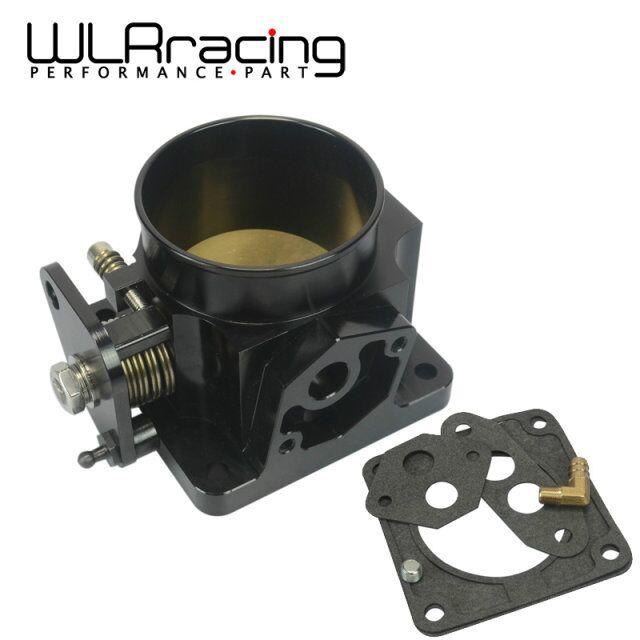 WLR RACING-SCHWARZ 75MM BILLET CNC DROSSEL KÖRPER FÜR 86-93 FORD MUSTANG GT COBRA LX 5,0 WLR6958BK