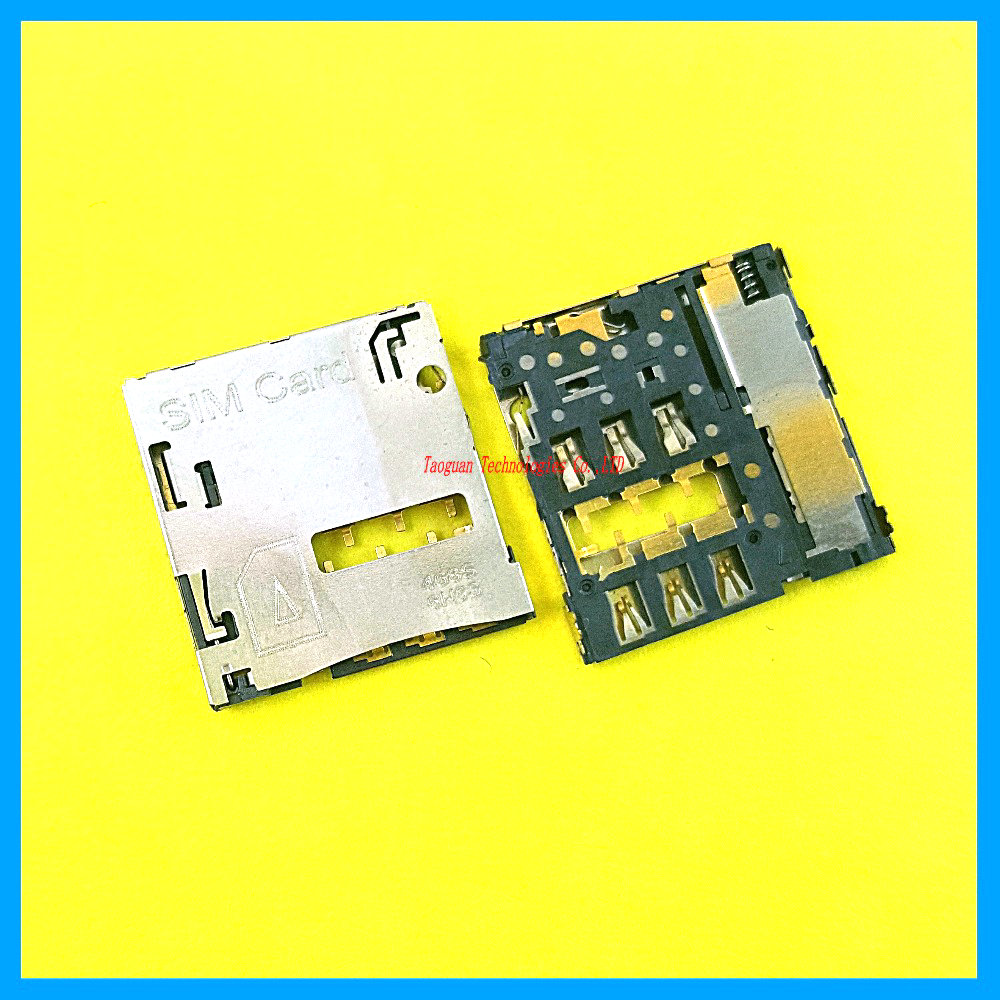 3pcs/lot 100% New SIM card Socket reader Holder Tray Replacement for Huawei S8-701U T1-823L T1-701U top quality