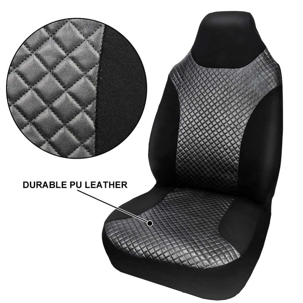REFRESH FRONT CAR SEAT UPHOLSTERY BLACK DURABLE COVER FRONT SEAT MPV VAN