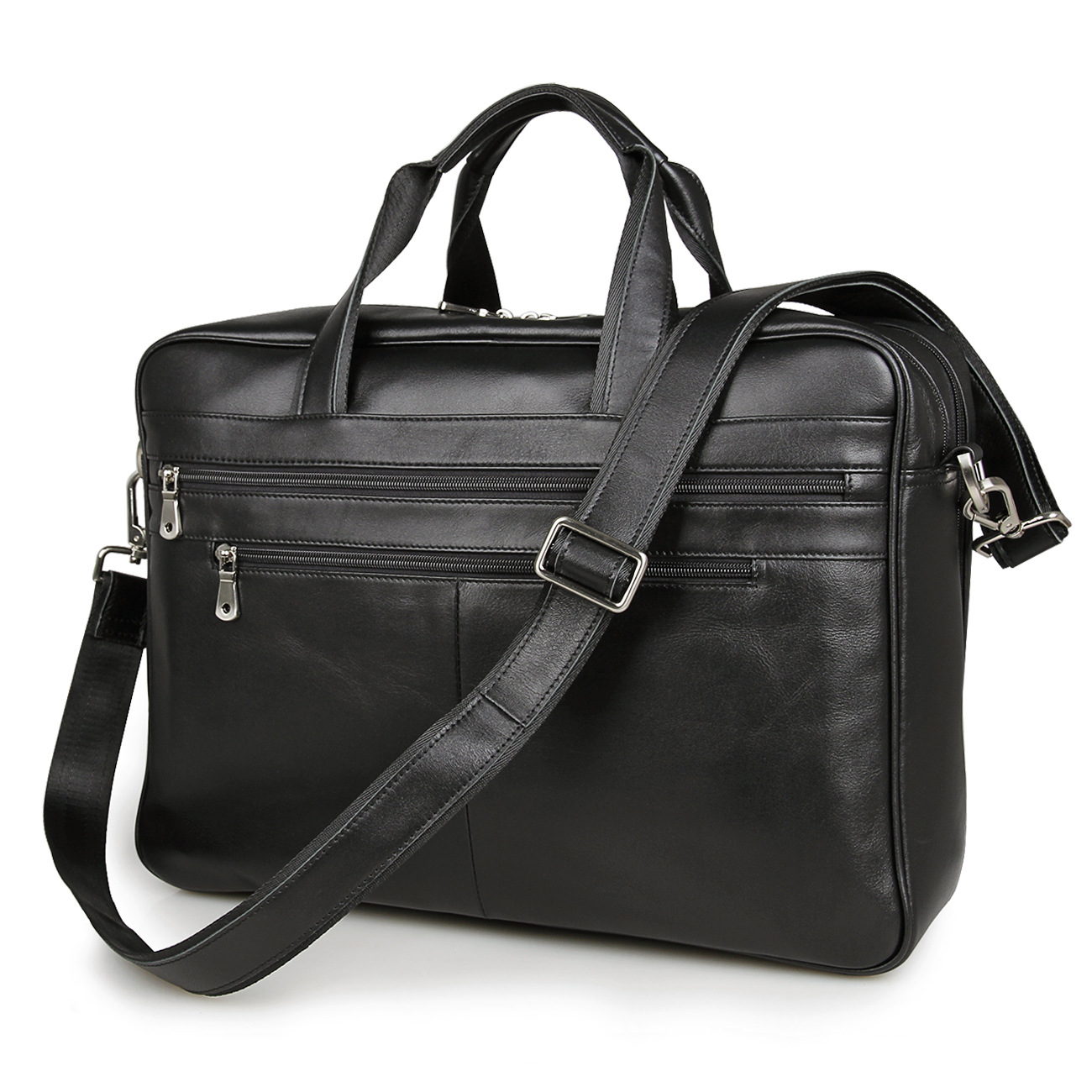 купить Men Fashion Briefcase Business Shoulder Genuine Leather Bag Men Messenger Bag Cool Computer Laptop Handbag Bag Men's Travel Bags по цене 8491.53 рублей