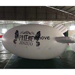 4 m/13ft Adverizing Gonfiabile Bianco Dirigibile, Dirigibile Gonfiabile con il vostro LOGO, Gonfiabile Zeppelin