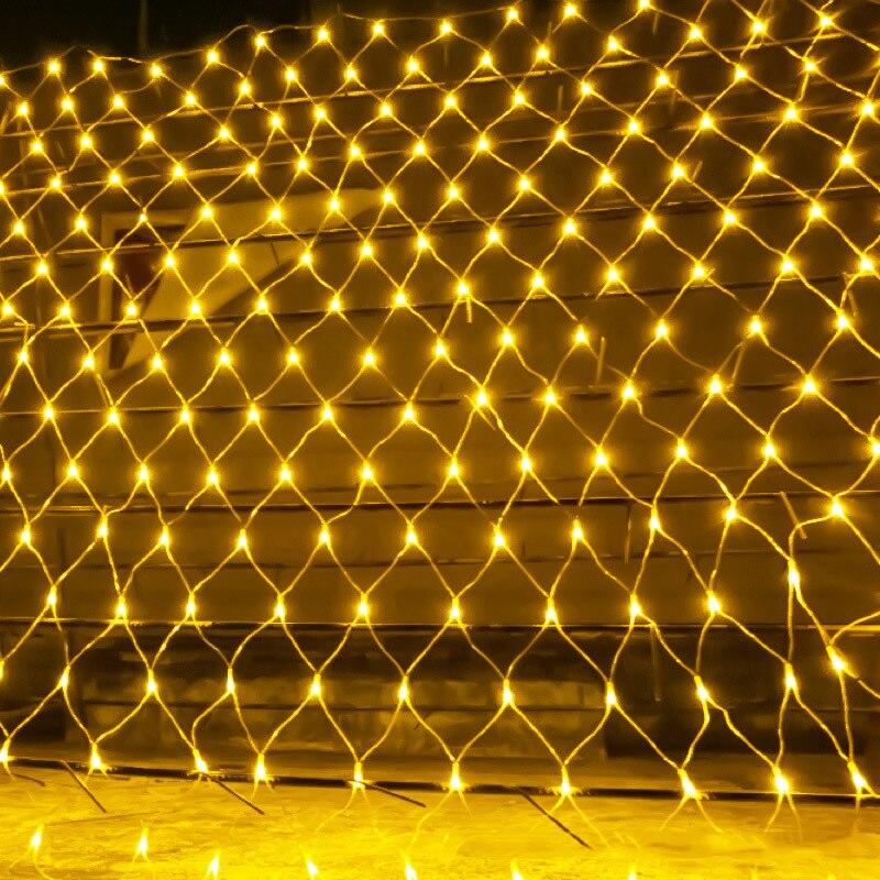 BEIAIDI 6 m x 4 m 880 LED Net Mesh Fée Guirlande LED Lumière De Noël 8 Fonction Extérieure De Noël De Mariage partie Rideau Glaçon Net Lumière