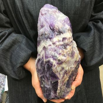 Natural Dreamy Amethyst Crystal Rough Gemstone Specimen Healing