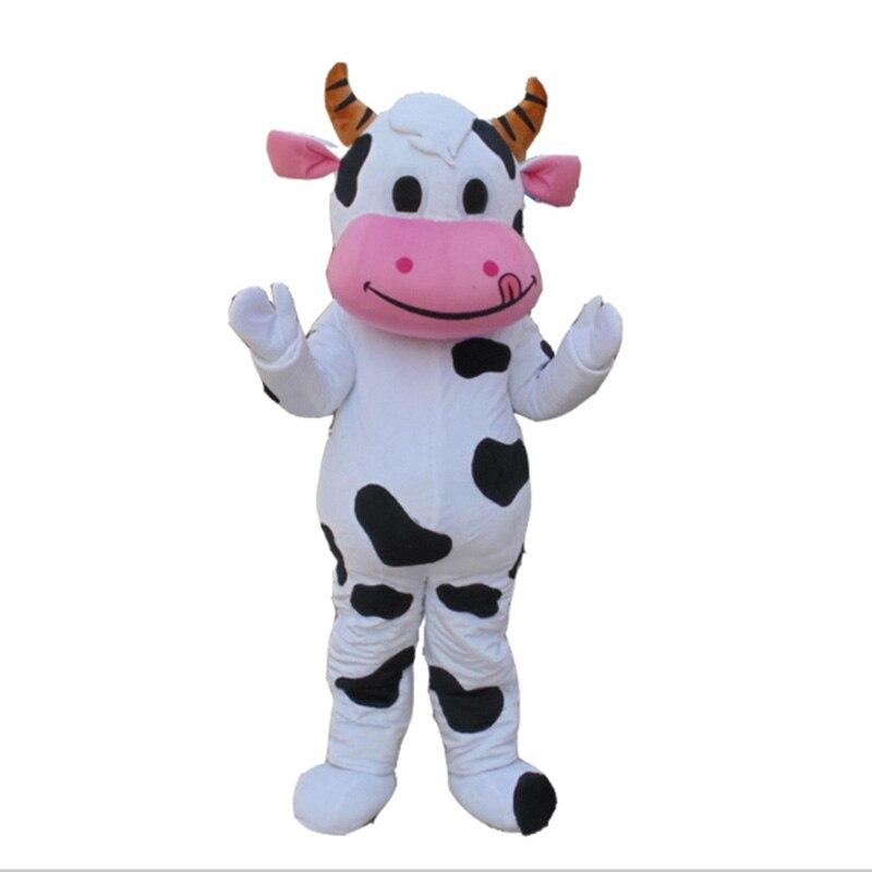 Nouvelle offre spéciale!! Costume de mascotte de vache laitière de ferme professionnelle robe de fantaisie de bande dessinée livraison gratuite