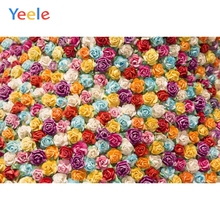 Yeele Photography Backdrops Colorful Flowers Girl Portrait Wedding Personalized Photographic Backgrounds cloth For Photo Studio недорого