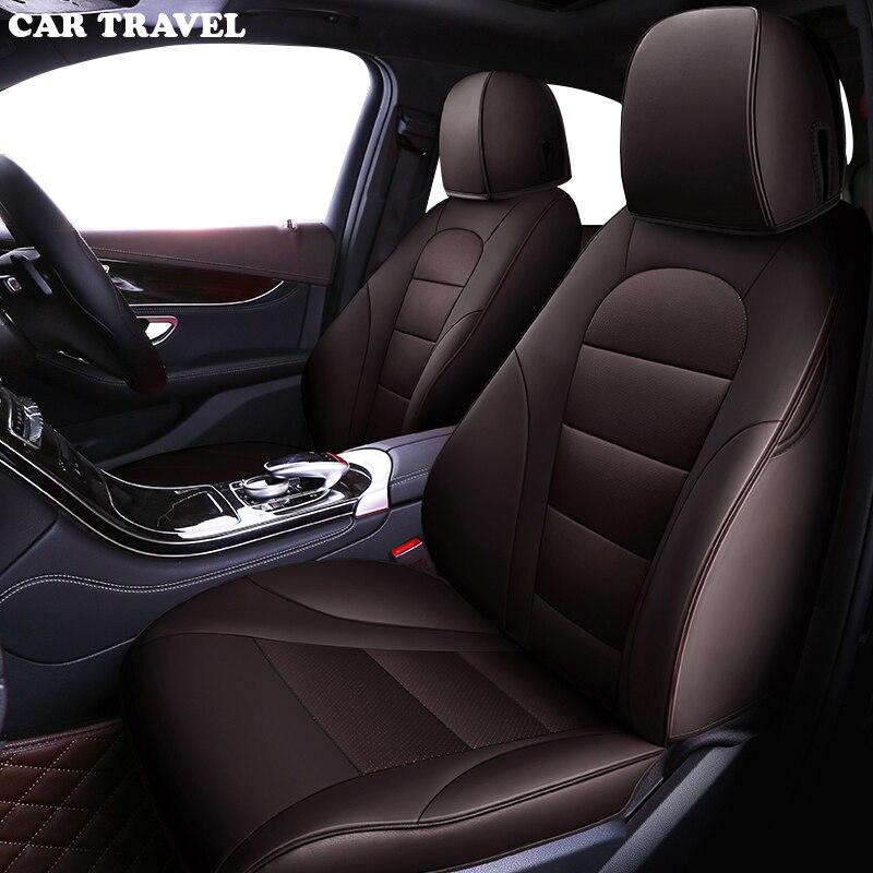 CAR TRAVEL Custom leather car seat cover for mercedes w204 w211 w210 w124 w212 w202 w245