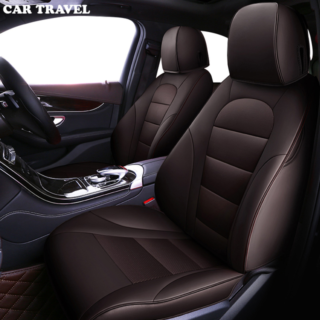 CAR TRAVEL Custom leather car seat cover for mercedes w204 w211 w210 w124 w212 w202 w245 w163 accessories covers for vehicle