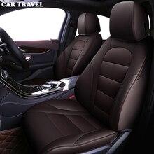 Podróż samochodem niestandardowe skórzane pokrycie siedzenia samochodu dla mercedes w204 w211 w210 w124 w212 w202 w245 w163 akcesoria pokrowce na pojazd