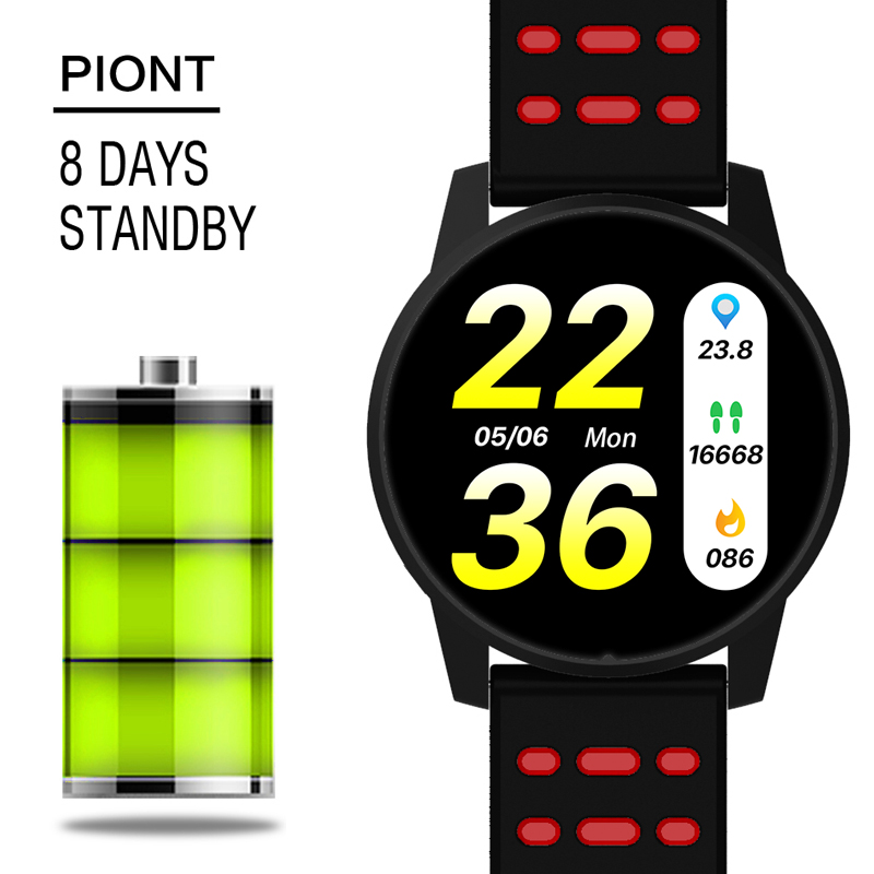 Men's Watches Wishdoit Sport Watch Smart Ip67 Waterproof Fitness Bluetooth Connection Android Ios System Heart Rate Monitor Pedometer Watch Digital Watches