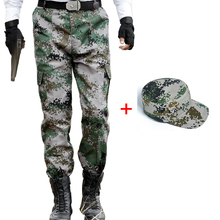 Woodland Camouflage Cargo Pants Men Military Tactical Police Work Trousers Special Force Army Combat Camo Pants