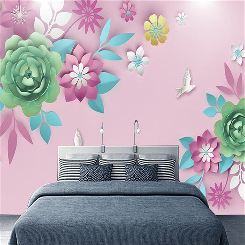 Modern 3D Custom Photo Wallpapers for Living Room Flowers Murals Home Decor Wall Papers for Walls 3D Nature Landscape Murals custom photo size wallpapers 3d murals for living room tv home decor walls papers nature landscape painting non woven wallpapers