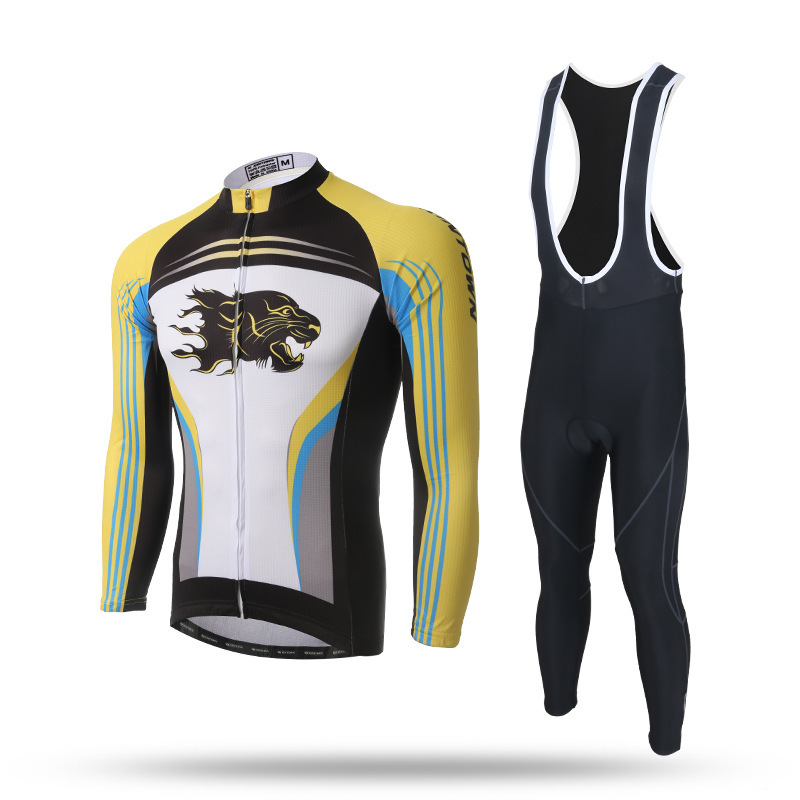 New MTB Road Bike Bicycle Long Sleeve Sets Jersey and GEL Bib Pants Anti-sweat Quick Dry Cycling Long Sleeve Shirt Suit Clothing west biking mtb road bike jacket 3d gel padded bicycle pants breathable quick dry cycling clothing bicycle bike jersey pants